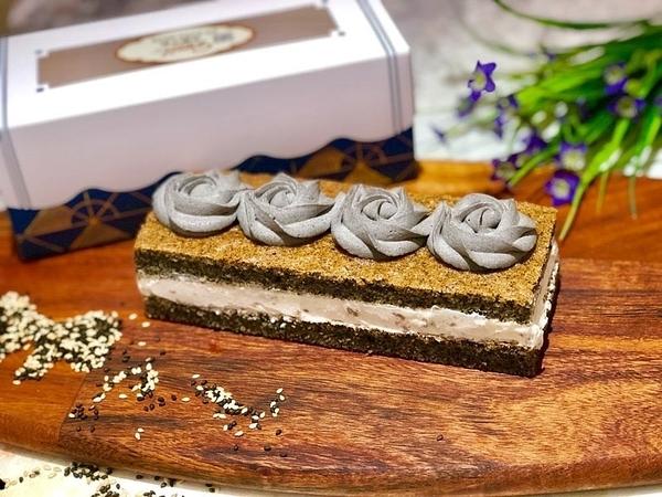 《無糖》黑芝麻花生蛋糕《糖尿病友善》