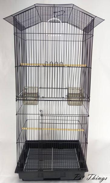 三色 加高 雙層 白色平頂方型造型鳥籠 抽屜鳥籠 鸚鵡籠 蜜袋鼯籠 - 寵物東西 Pet Things