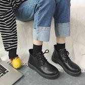 馬丁靴黑色馬丁靴女英倫風顯瘦百搭學生短靴女靴 全館八折柜惠
