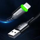 Mcdodo iPhone/Lightning智能斷電充電線補電蘋果傳輸線呼吸燈 蜂巢系列 120cm 麥多多