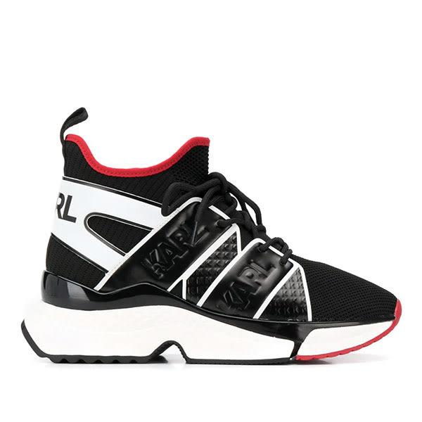 Karl Lagerfeld 卡爾 老佛爺 女鞋 AVENTUR LOGO老爹鞋-黑白