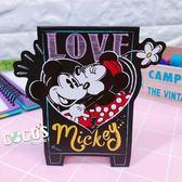 正版授權 迪士尼站立卡片 米奇米妮 親親 小卡片 萬用卡片 卡片 COCOS DA030