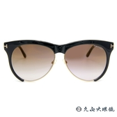 TOM FORD 墨鏡 TF365 (黑-金) 經典金屬T字標誌 太陽眼鏡 久必大眼鏡