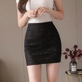 蕾絲半身裙 2020新款高腰黑色蕾絲包臀裙女性感緊身短裙子半身裙夏小個子 JX2840【東京衣社】