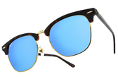 RayBan 太陽眼鏡 RB3016F 114517 (琥珀金-藍水銀綠鏡片) 經典眉框款墨鏡 # 金橘眼鏡