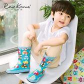 兒童雨鞋可愛卡通貓頭鷹汽車防滑女童男童雨靴