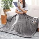 寢居小毛毯 午睡毯單人午休毛毯辦公室蓋毯披肩兒童被子雙層加厚冬季【快速出貨八折搶購】