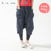 a la sha Qummi 阿熊造型口袋牛仔低檔褲