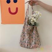包包單肩包手提購物袋文藝女學生布袋環保袋薄款【聚可愛】