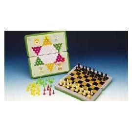 進大 JD-H41 磁鐵跳棋、西洋棋(折疊式彩色鐵盒) / 盒