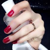 戒指 冷淡風食指钛鋼情侶款戒指女ins潮不掉色對戒簡約網紅個性時尚