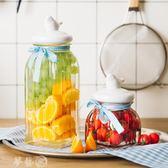 糖罐子 創意玻璃儲物罐有蓋零食干果茶葉雜糧糖果食品密封儲蓄罐子小瓶 夢藝家