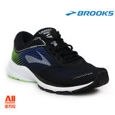 【BROOKS】男款避震型慢跑鞋 Launch 5 -黑藍綠(781D016)-全方位跑步概念館