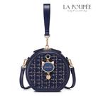 側背包 閃耀粗花呢貓咪吊飾小圓包 2色-La Poupee樂芙比質感包飾 (現貨+預購)