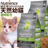 【培菓寵物48H出貨】Nutrience紐崔斯》INFUSION天然幼貓雞肉配方貓糧1.13kg(蝦)