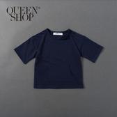 Queen Shop【01038245】童裝 親子系列 梯形口袋上衣 兩色售 S/M/L*現+預*