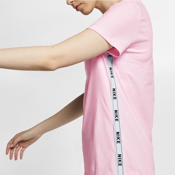 NIKE NSW TEE LOGO TAPE 女裝 短袖 休閒 舒適 透氣 粉 【運動世界】 AR5341-663