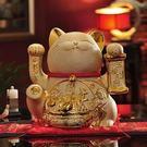 设计师美术精品馆金色招财猫创意陶瓷储蓄存钱罐开业礼品【五福临门储蓄罐31*28*33】