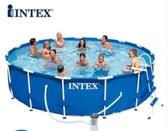 intex遊泳池支架泳池家用遊泳池兒童遊泳池蓄水池養魚池  MKS交換禮物