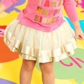 WHY AND 1/2 mini 亮蔥網紗短裙 1Y~4Y