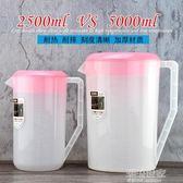 奶茶店塑料冷水壺耐高溫耐熱大容量涼水壺茶水壺果汁壺帶蓋量杯『潮流世家』