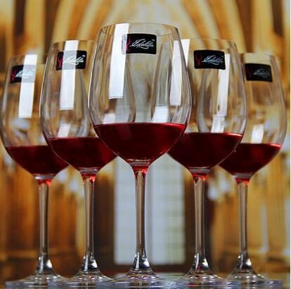 Bordeaux系列家用6只裝無鉛水晶紅酒杯高腳杯葡萄酒杯酒具套裝