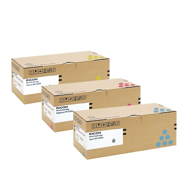 原廠碳粉匣 RICOH 3彩 SP C220N C/SP C220N M/SP C220N Y /適用RICOH Aficio SP C220N/SP C240DN