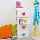 【ikloo】童趣四層整理收納櫃(附輪)
