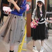 女童半身裙韓版新款夏季兒童網紗中大童寶寶短裙 JD5496【KIKIKOKO】