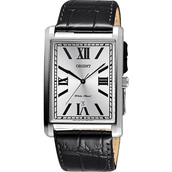 ORIENT 東方錶 羅馬雅仕簡約石英腕錶-銀x黑/32mm FUNEM003W