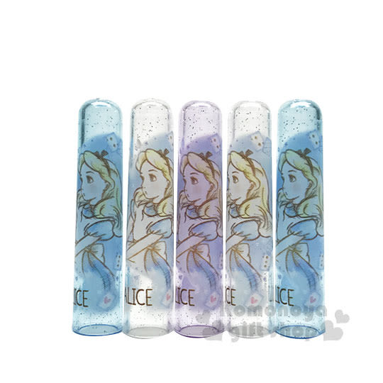 〔小禮堂〕迪士尼 愛麗絲 日製筆蓋組《5入.藍紫.透明.側臉》 4991277-49316