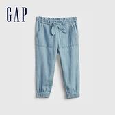 Gap女幼童 純棉蝴蝶結牛仔褲 681314-淺色水洗