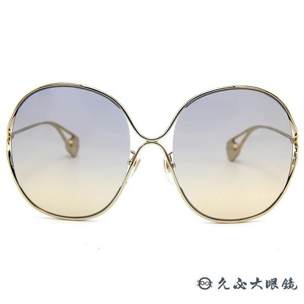 GUCCI 墨鏡 GG0362S 003 (金) 金屬大框 太陽眼鏡 久必大眼鏡