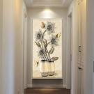 玄關裝飾畫 招財風水玄關畫豎版玄關墻面裝飾壁畫走廊過道裝飾畫