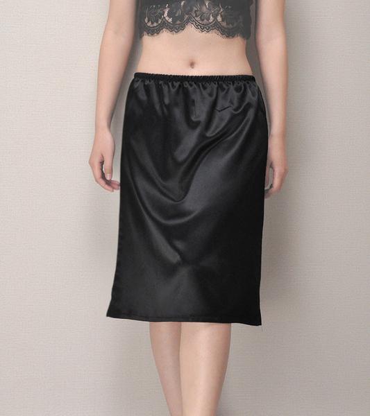 基本款  緞面A版長款襯裙(55cm)  [黑 白] 兩色售 11770012