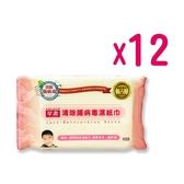 芊柔 清除腸 病毒濕紙巾(濕巾)80抽*12包(箱購)[衛立兒生活館]