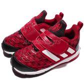 adidas 休閒鞋 Marvel Spider-Man CF I 紅 黑 蜘蛛人 運動鞋 童鞋 小童鞋【PUMP306】 BA9406
