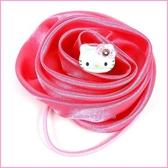 嬰童用品【asdfkitty 可愛家】KITTY 立體玫瑰花 髮束大又顯眼