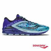 SAUCONY KINVARA 7 RUNSHIELD 防潑水輕量緩衝專業訓練鞋-寶藍x潑墨