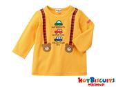 HOT BISCUITS 餅乾熊小汽車吊帶印圖長袖T恤(黃色)