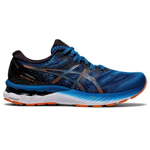 ASICS GEL-NIMBUS 23 男鞋 慢跑 緩震 透氣 輕量 藍 黑【運動世界】1011B004-400