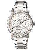 SHEEN SHN-3012D-7A自信步調 閃耀鑽飾 三眼錶 SHN-3012D-7ADS CASIO卡西歐 日期/星期/24時 石英錶