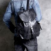 真皮後背包-簡約純色植鞣牛皮男女雙肩包3色73vz23【時尚巴黎】