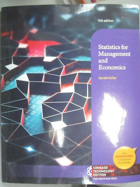 【書寶二手書T1/大學商學_YHN】Statistics for Management and Economics_Gerald Keller