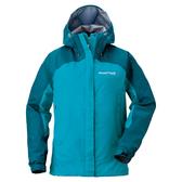 [好也戶外]mont-bell THUNDER PASS女款連帽風雨衣-孔雀藍/松石藍 No.1128345-PE/TQ