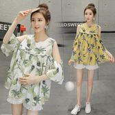 夏季孕婦夏裝套裝時尚款新品新款韓版潮流媽咪裝外出懷孕期兩件套