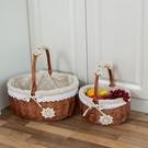 野餐籃水果籃藤編購物籃