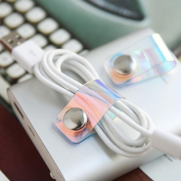【BlueCat】科技炫光雷射扣式MP3耳機捲線器 集線器 繞線器
