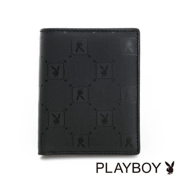 PLAYBOY- 直式短夾 黑夜爵士系列-爵士黑