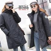 *MoDa.Q中大尺碼*【N2031】高質感超有型可拆式連帽立領鋪棉外套